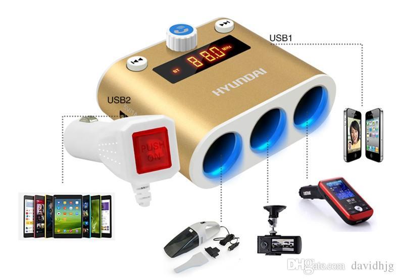 HYUNDAI HY-26B Bluetooth Car Kit многофункциональный двойной USB автомобильное зарядное устройство громкой связи FM Ttransmitter MP3 музыкальный плеер