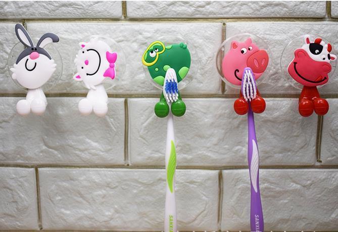 very cute Cartoon sucker toothbrush holder / suction hooks /household items /bathroom/toothbrush rack/bathroom set