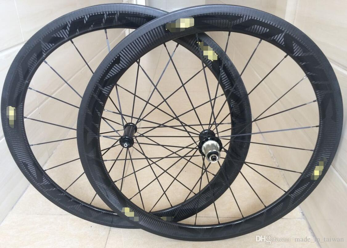 Newest style 50mm 3k Twill black carbon wheels 50mm clincher 11s road bike carbon wheels china cheap cycling bicycle wheels free shipping