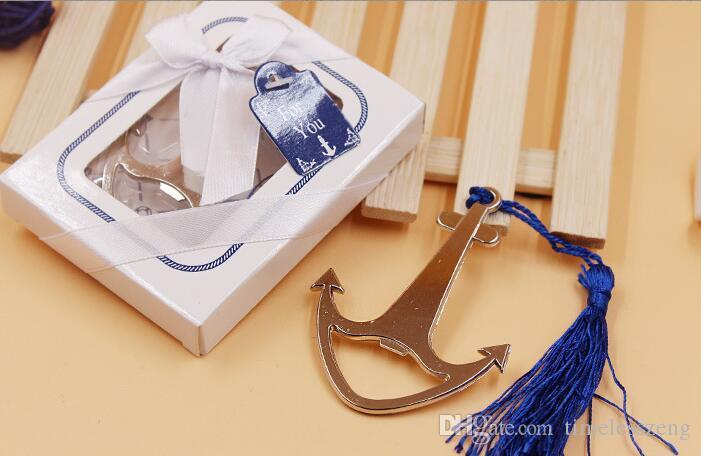 wholesale wedding giveaways and gift--nautical themed anchor beer bottle opener party favor wine opener 50 pcs/lot