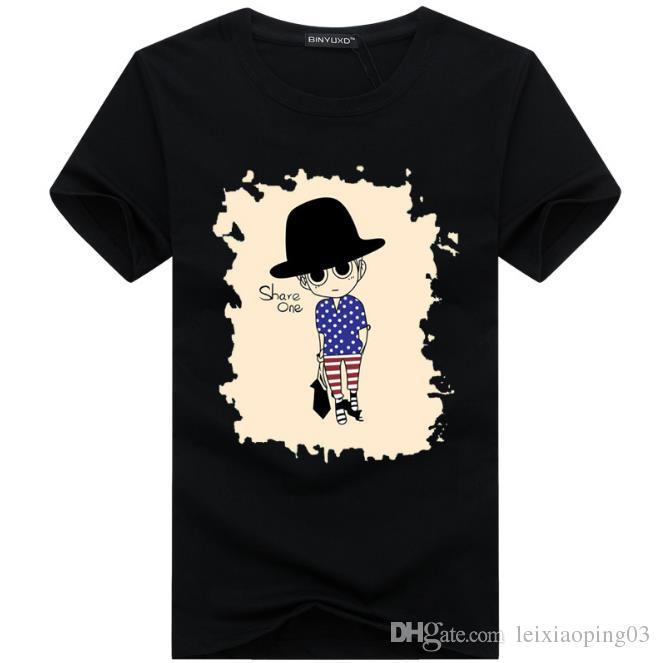 2017 Venta al por mayor de ropa de los hombres Camisetas de los hombres pintura 3D hip hop ropa para hombre camisas de diseño más tamaño negro blanco