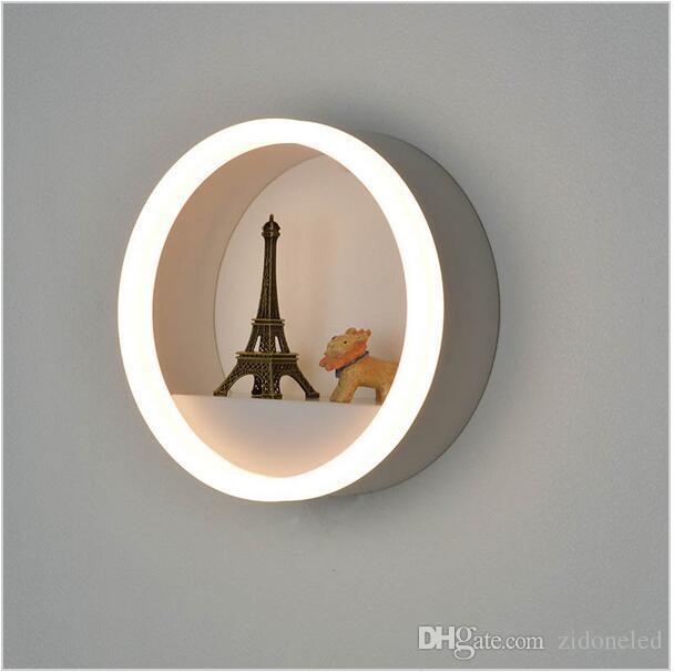modern minimalist led wall lamp Acrylic LED wall sconce light for Bedside Bedroom/Dinning Room/Restroom vanity lights