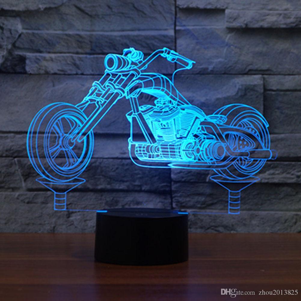 Lampada da tavolo a forma di giocattolo per Natale con lampada da tavolo LED cambia colore 7 LED per lampada ragazzi