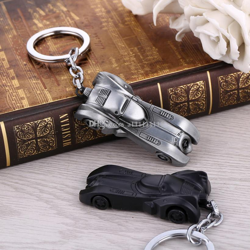 Hot New Batman Vs Superman Key Chain Car Pendant Keychain Alloy Key Ring Cartoon Keychain Gift 2 Colors Free Shipping