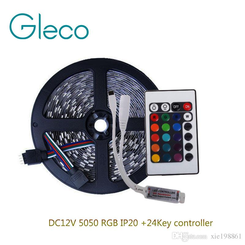 DC12V 5050 RGB LED Streifen Set 60LED / m 5 Mt 300 LED Streifen RGB 5050 + 24key RGB LED Controller
