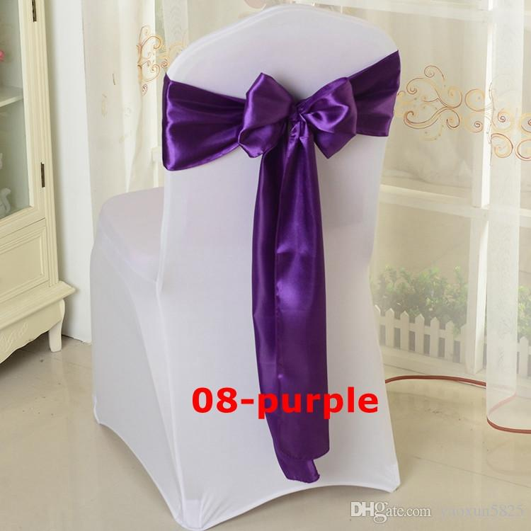 Wholesale Price Satin Chair Bow \ Chair Sash Used On Chair Cover Free Shipping