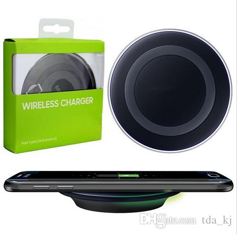 Universal Qi Sem Fio Carregador de Carregamento Adaptador Receptor Pad Mais Novo Para IPHONE 8 8 + Samsung Nota Galaxy S6 s7 Borda almofada móvel com pacote