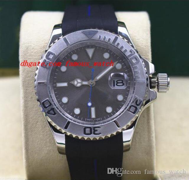 最高品質の高級腕時計116622メンズ鋼鉄白金ロジウムダイヤルベビーブルーハンド40mmラバーブレスレット自動機械学科男性腕時計