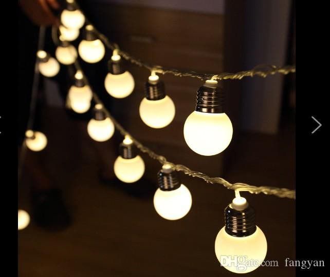 Led4.5 cm 5M20LED simulation 20bulb ball lantern dormitory decoration light string teng Yue wedding supplies festive lighting