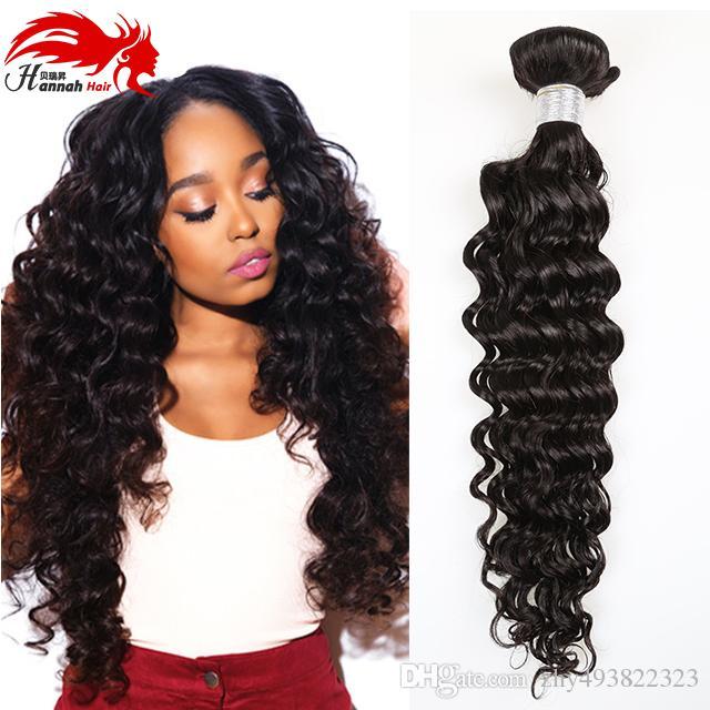 3PCS capelli vergini brasiliani profondo riccio vergine brasiliano capelli ricci capelli umani non trasformati di remy tessuto brasiliano profonda onda