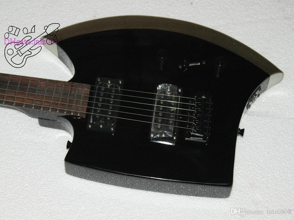 Latest Finished China OEM Musical Instrument 6 Strings Axe Shaped Custom Electric Guitar Maple Neck Silverburst Color