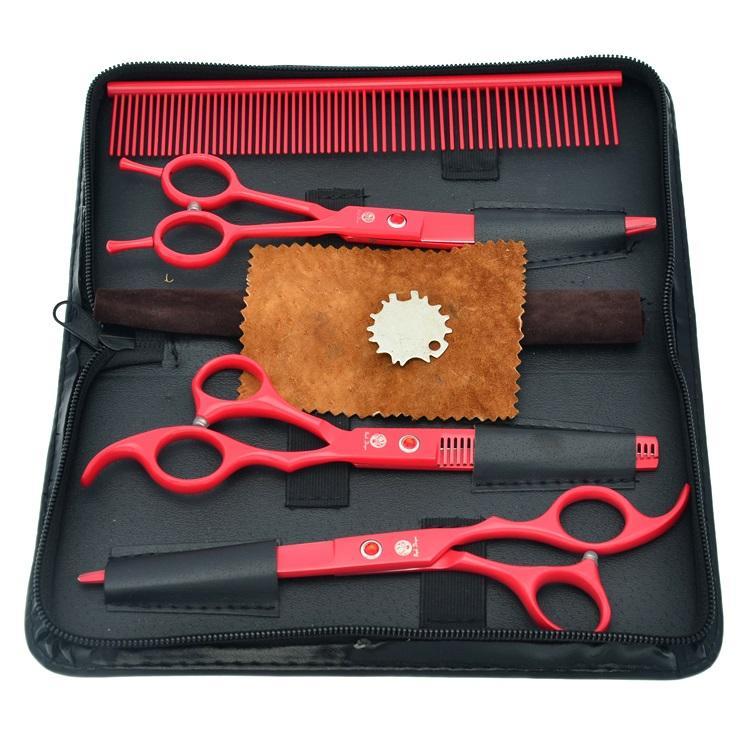 7.0 Inch Purple Dragon Forbici da taglio Forbici diradanti Curve Cesoie Forbici Pet professionali per cane Grooming Dog Hair Clipper, LZS0362