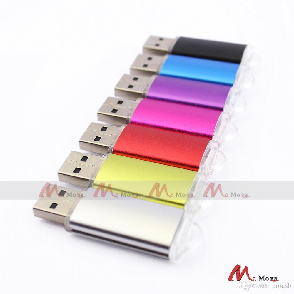 Free Laser Logo Bulk 10PCS 64MB 128MB 1GB 2G 4GIGA 8GB 16GB Metal USB Flash Pendrive Memory Key Stick Real Storage Brand New 2.0
