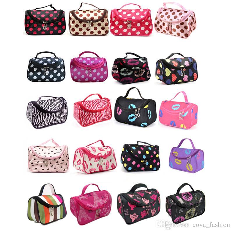 Discount Hot Sale 20 Colors Cheap Zipper Makeup Clutch Women's Travel Cosmetic Bag DHL Free Shipping Wholesale