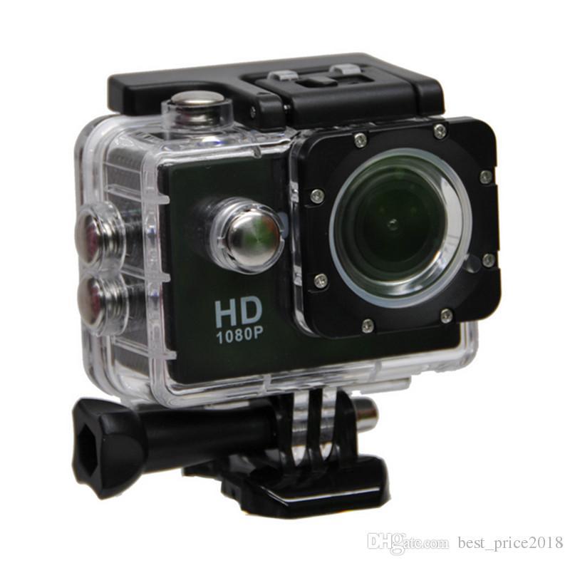 حار نمط sj4000 a9 2 بوصة شاشة lcd 1080 وعاء كامل hd عمل الكاميرا 30 متر ماء كاميرات خوذة الرياضة البسيطة dv سيارة dvr الحرة dhl