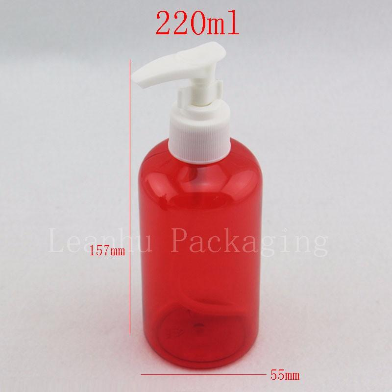 220ml red bottles with bayonet pump