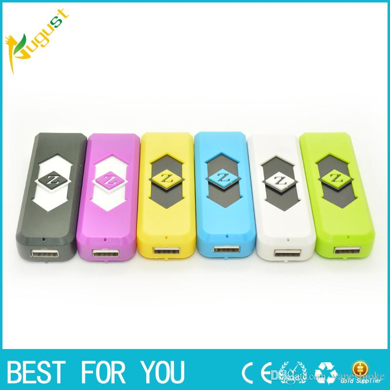 Wholesale - Portable USB Electronic Rechargeable Battery Cigarette Flameless Lighter Power Battery Cigarette with display box smoking pipe