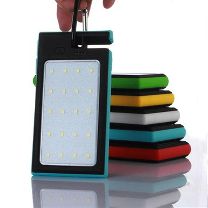Multifunction solar Power Bank 12000mAh Camping Lights Charger External Battery portable for mobile phones charging bracket