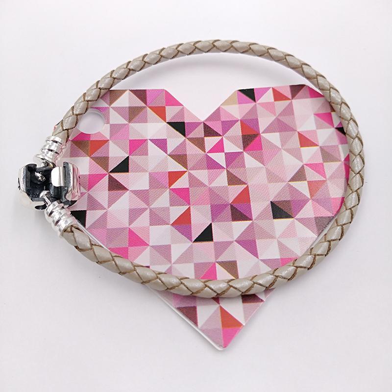 Autentico 925 momenti in argento sterling 925 braccialetto in pelle singolo - perla adatta perline per gioielli in stile Pandora europeo perline 590705CPL-D