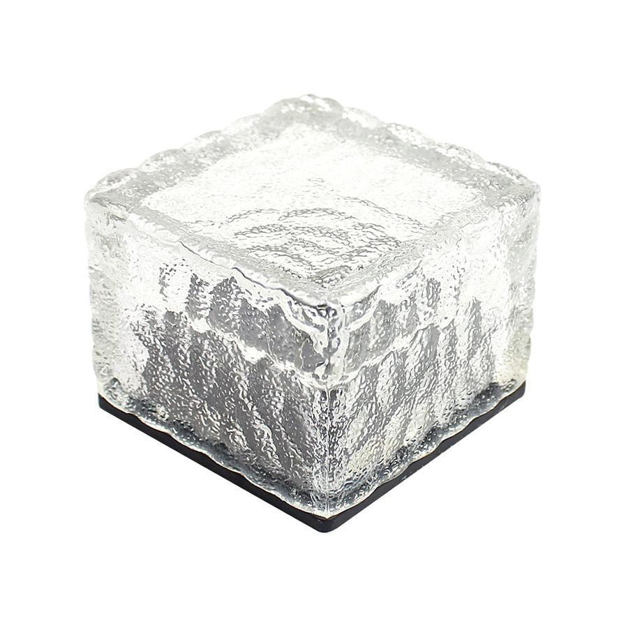2019 solar brick ice cube path lights crystal garden lamp