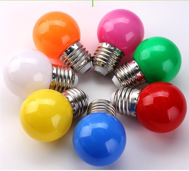 E27 220 فولت SMD 2835 bombillas lamparas 1 واط 3 واط ملون الصمام لمبة للثريا السنة الجديدة عيد الميلاد الديكور الأحمر الأزرق أدى أضواء شحن مجاني