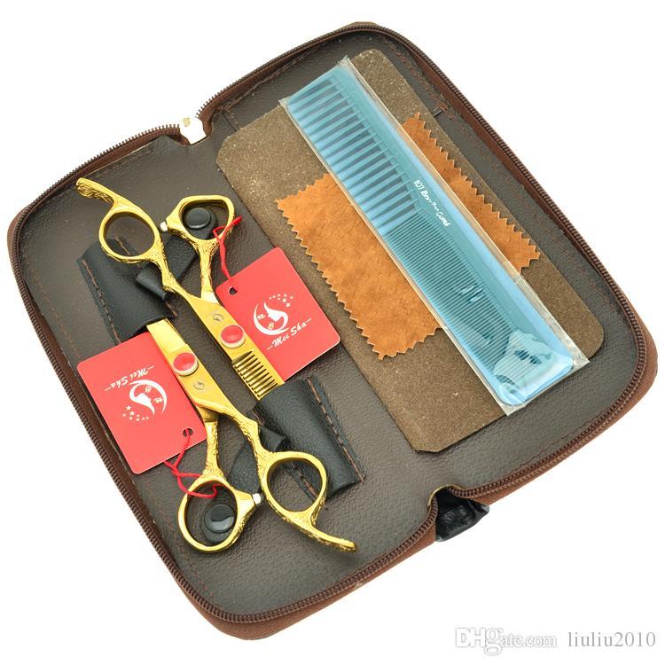 6.0Inch Meisha Plum Blossom Handle Professional Hair Scissors Barber Equipment Kit Hair Cutting Shears Salon Barber Tools,HA0340