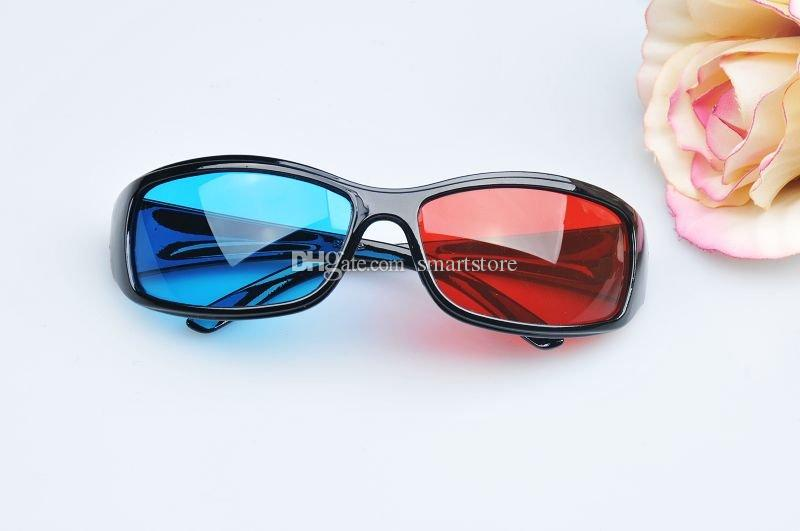 200pcs / lot # occhiali 3D caldi rosso blu ciano 3D visione stereo occhiali 3D TV spedizione gratuita 0001