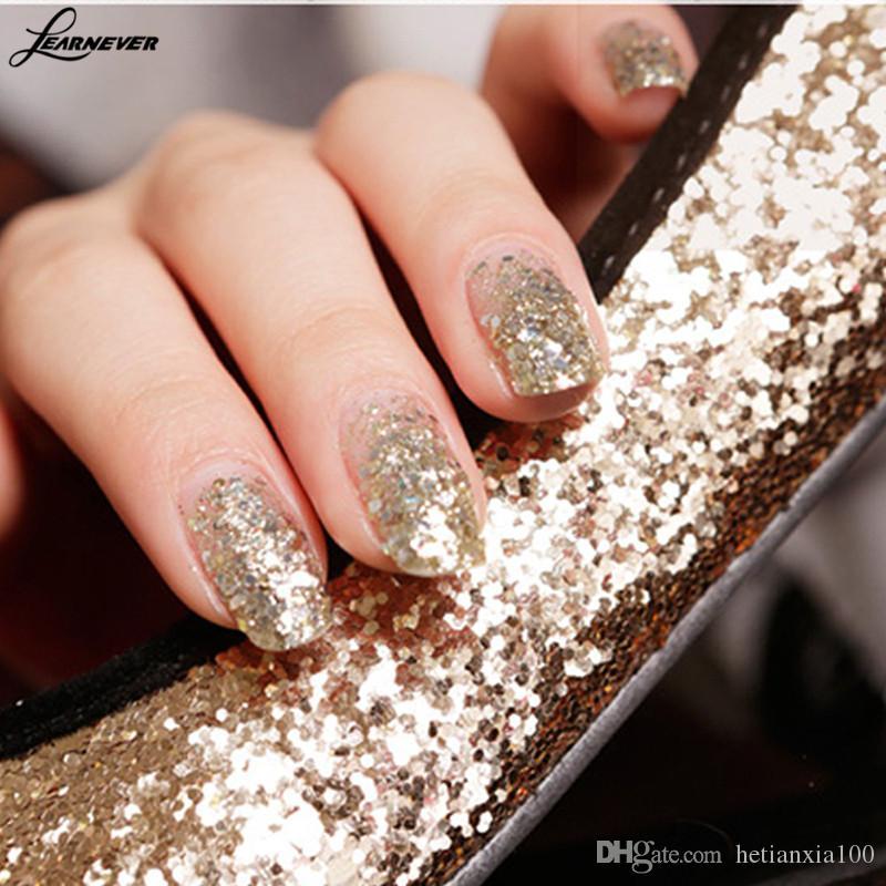 10ml Fashion Nail polvere di scintillio di arte Champagne Oro Brown di arte del chiodo della polvere di scintillio Paillettes polvere Decoration Pigment