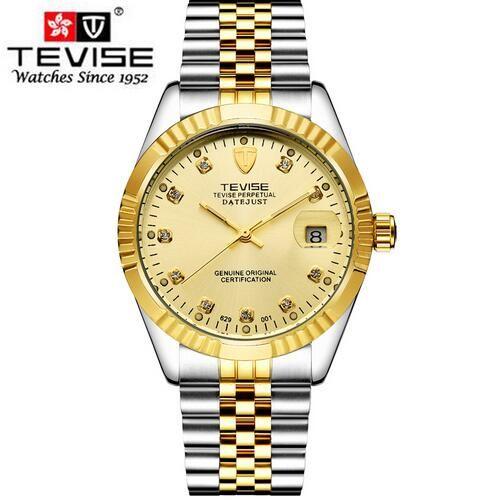Top Moda Relógios para Homens Designer Mecânica Mecânica Mens Clássica Relógio de Pulso De Prata Aço Inoxidável Caixas de Presentes De Aço Inoxidável