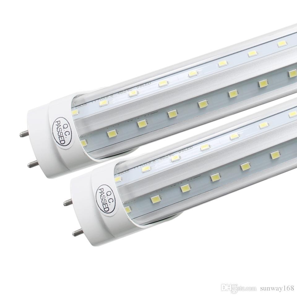 36W LED ışık tüpü 4 ft floresan lamba T8 G13 85-265V V-Şekilli 4900lm Sıcak 1200 4 ayak ft borular sıcak soğuk beyaz Toptan