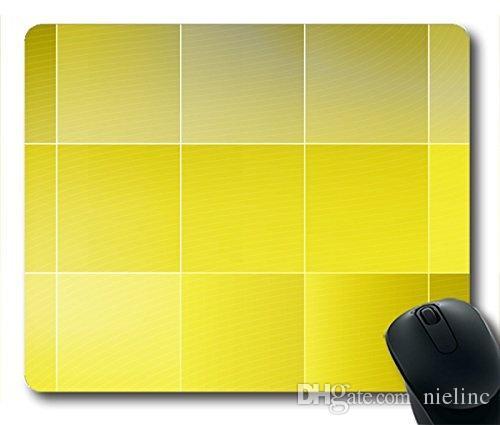 Mousepad Yellow Squares Rubber Neoprene Rubber Non-slip Personality Rectangle Desktop Mousepad Desings Gaming Mouse Pad Laptop Mousepad