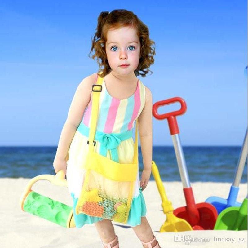 Çocuklar Plaj Oyuncakları Uzakta Tüm Kum Çocuk Sandpit Çanta Torba Almak Sandpit Depolama Kabuk Net Kum Uzak Plaj Örgü kılıfı