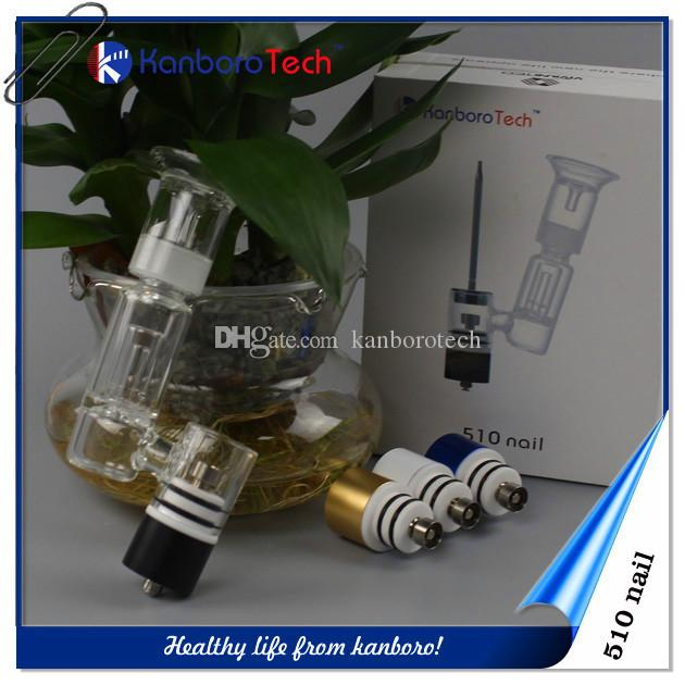 Прямые продажи Запатентованного 510Nail Керамик / Titanium / Quartz ногти воск для Vape Pen Испарителя E сигареты 510 распылителя подходит большие бонги 510Nail.