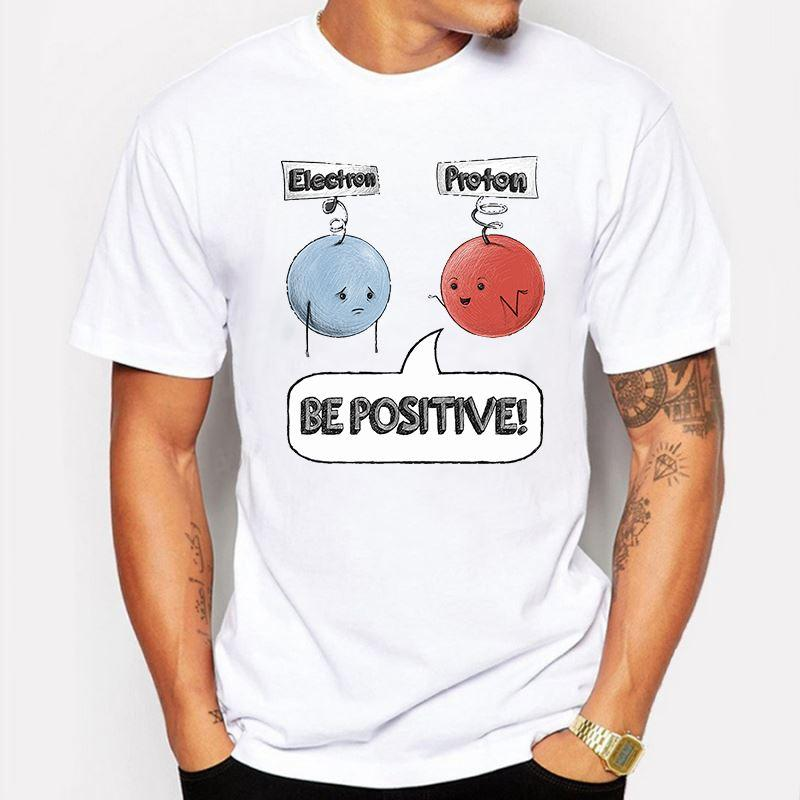 Mens Clothing Funny Cartoon Anime Be Positive Design T Shirt Men Fashion  Print T Shirt Short Sleeve O Neck Tee Shirt Homme De Marque Crazy T Shirts  Online Cool Looking T Shirts