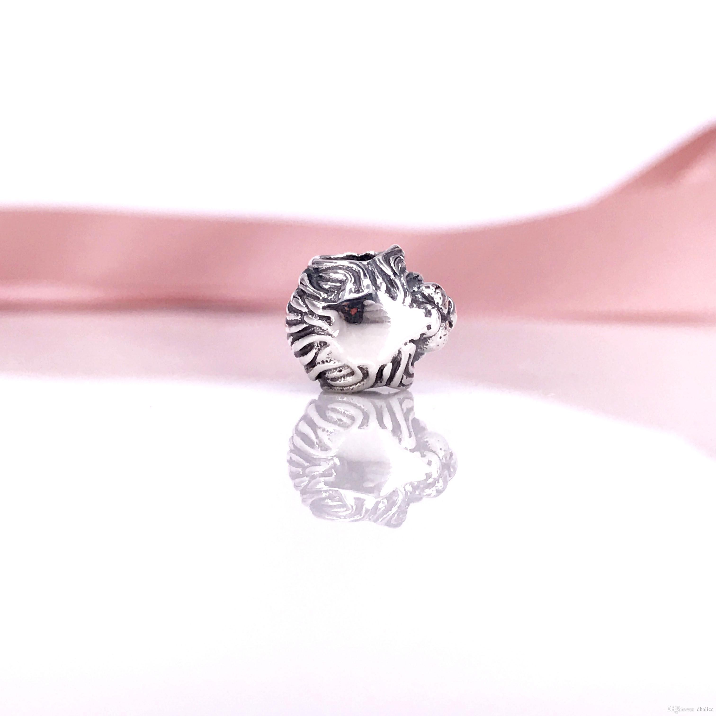 Auténtico 791377 Collar de león de plata esterlina Pandora 925 Cabeza y plata Pulsera de encanto Fit DIY DGNVM