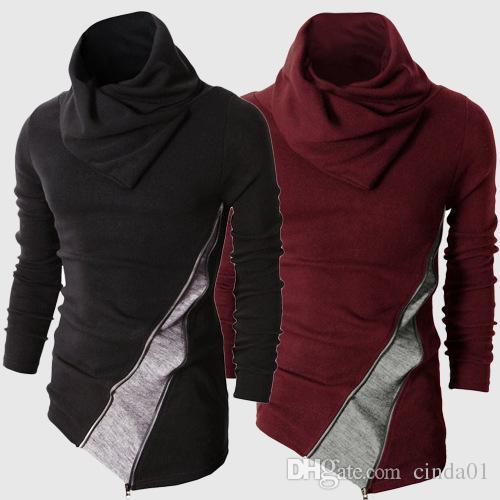 가을 새로운 2017 남자 풀오버 남자 겨울 터틀넥 풀오버 열렬한 스웨터 긴 소매 멋진 슬림 맞는 톱
