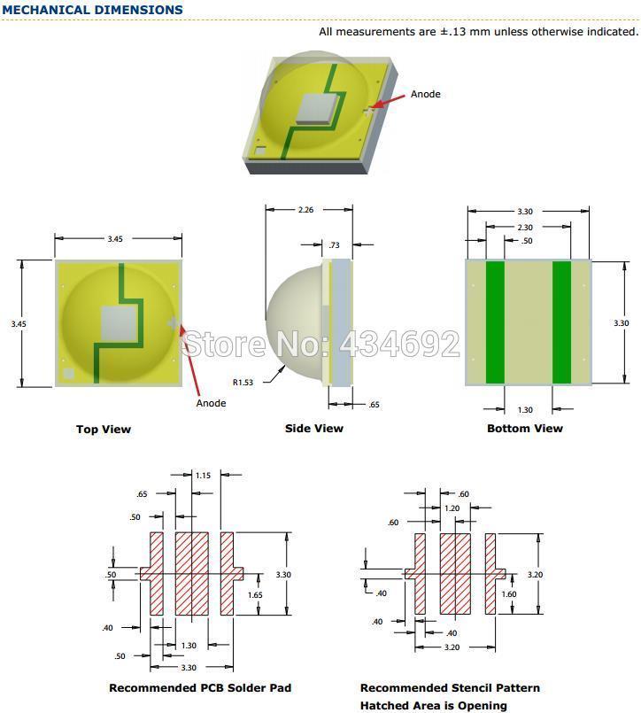 16-XlampXP-E2 MECHANICAL DIMENSIONS