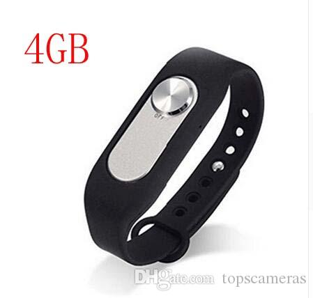 Free Shipping New Design Multi Colors Wearable Wristband 4GB Digital Voice Recorder Watch One Button Long Time Recording WAV 128Kbps WR-06