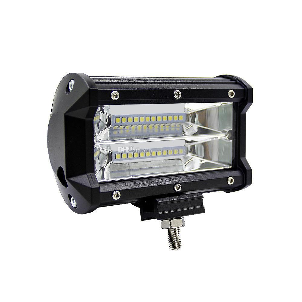 Lampada da lavoro da 5 pollici 72W LED Light Bar 6000K Spot Lampada da fuoristrada modificata per fuoristrada SUV fuoristrada Barche auto accessaries Driving lamp