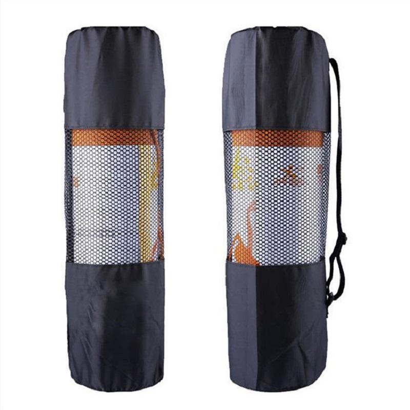 O novo tipo de esportes ao ar livre à prova d 'água portátil multifuncional respirável malha yoga mat pacote Yoga Bag (preto)