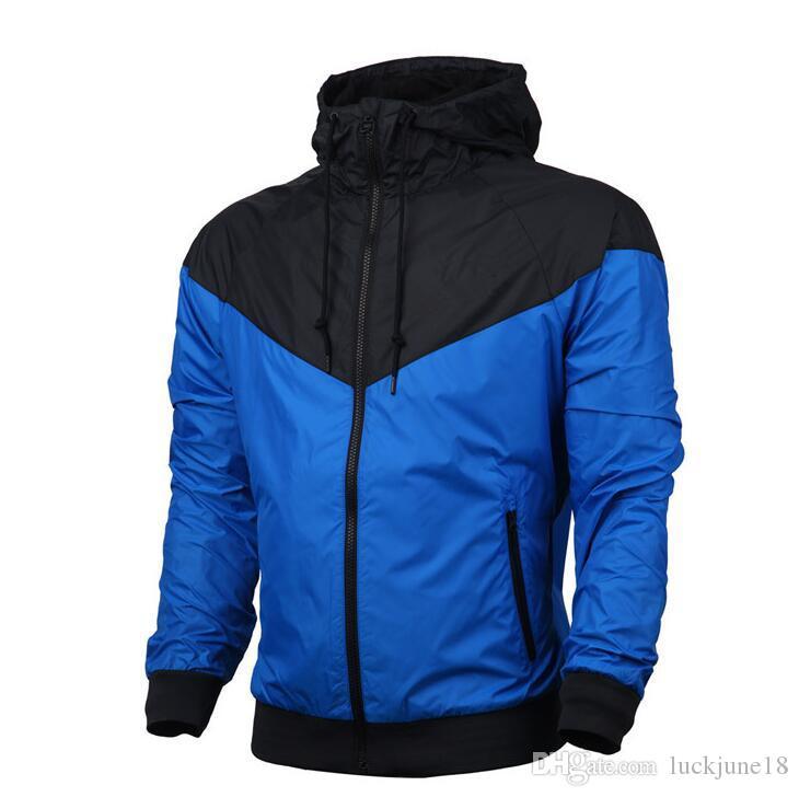 2018 Marca Designer Mens Casaco Moletom Com Capuz Mulheres Jaqueta de Manga Comprida Primavera Sportswear Zipper Windcheater Plus Size Outerwear com Logotipo