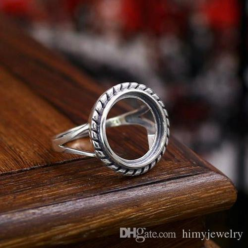 925 Sterling Silver Mount Jewelry Ring Prom Setting 5X5 MM Round Semi Mount Ring Size All Size Available choose your Ring size