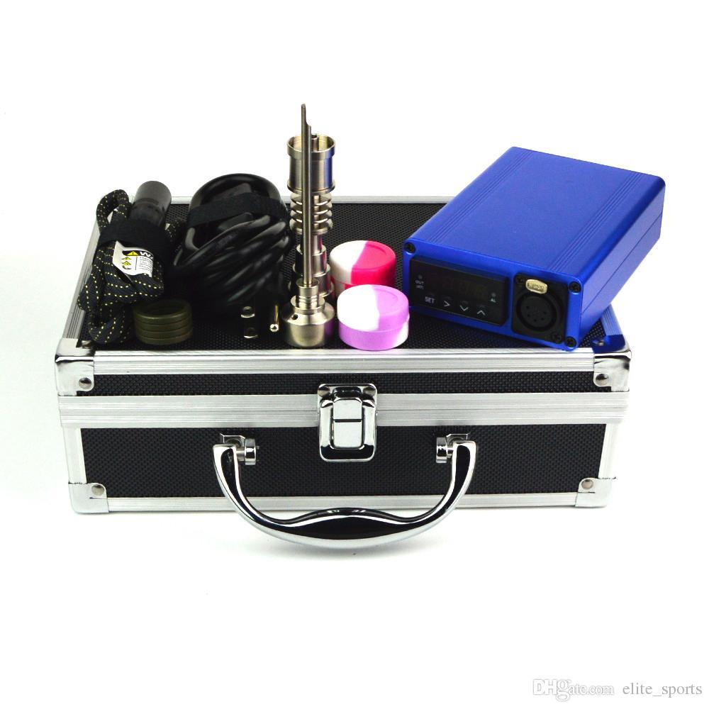 100W 와트 BOX02 무료 배송 알루미늄 상자 드라이 허브 왁스 상자 10mm의 16mm에서 20mm 코일 크기 E 네일