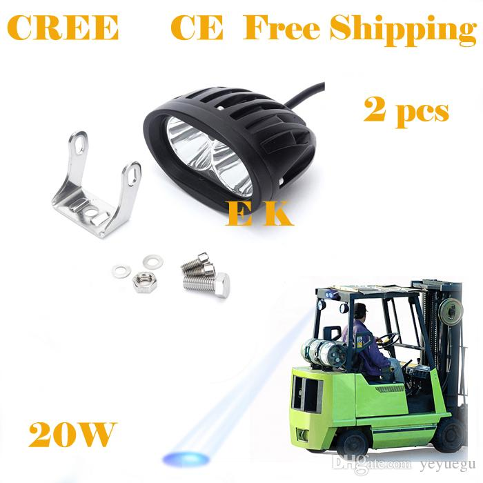 2 pieces free shipping 12V-30V 1600lm 20W Forklift warning light Blue Red Yellow led Forklift trucks safety light