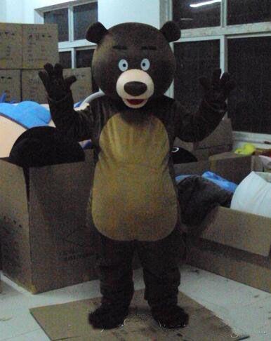 2017 mascotte calda del costume del carattere del costume della nuova mascotte calda come freeshipping di modo Orso bruno