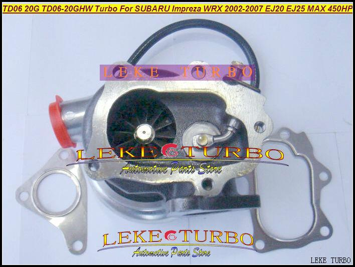 TD06 20G TD06-20GHW Turbo Turbocharger for SUBARU Impreza WRX 2002-2007 MAX HP 450HP Engine EJ20 EJ25 (2)