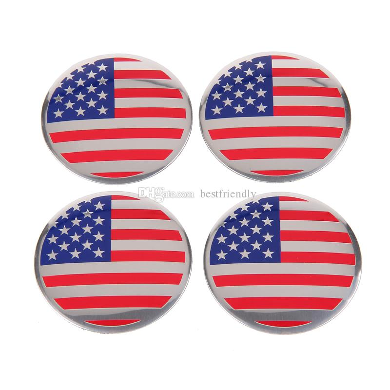 Hot Selling Vlag Wiel Cover Auto Logo Badges Embleem Badge Sticker 56.5mm Best Friendly Amercia Flag Badge Sticker