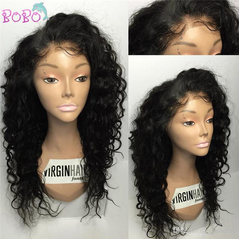 8A Luxury Beautiful High Ponytail Lace Front Human Hair Wigs Curly 100% Peruvian Virgin Hair Full Lace Human Hair Wigs