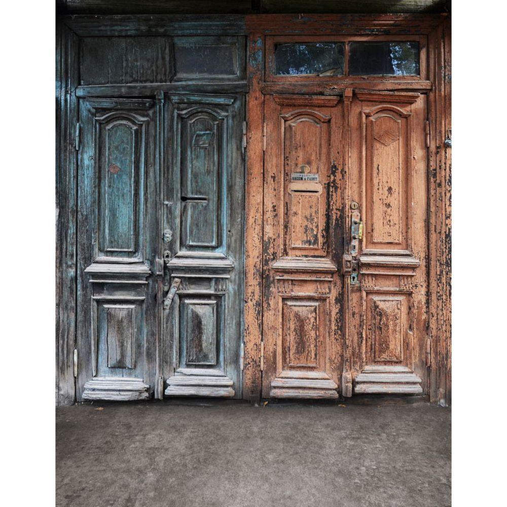 Vintage Old Doors Photography Fondali in vinile per bambini Sfondi per foto in studio Puntelli per neonato