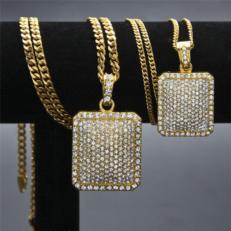 Wholesale 2017 New Men Women Unisex Hip Hop Necklace Blingbling
